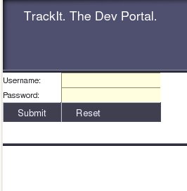 trackit login screen
